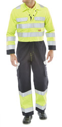 Click ARC Compliant Yellow/Navy Coveralls