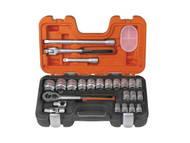 Bahco S240 Socket Set of 24 Metric 1/2in Drive