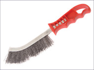 Wire Scratch Brush Steel Red Handle