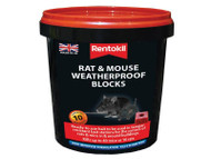 Rentokil Mouse & Rat Weatherproof Blocks - 10 Sachet