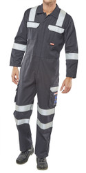 Click ARC Compliant Navy Coveralls