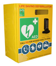 Click Stainless Steel Defibrillator Cabinet With Digi Lock & Electrics (Large)
