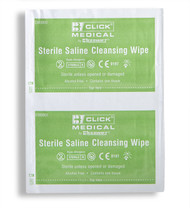 Click Sterile Saline Cleaning Wipes (Box Of 100)