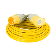 Defender 25M Extension Lead 32A 2.5mm Cable - Yellow 110V