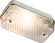 IP65 100W max E27 Bulkhead with Clear Prismatic Diffuser