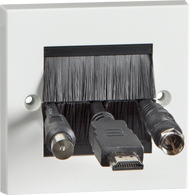 Standard Single Size Brush Module Faceplate
