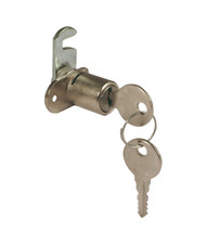 LH Cylinder Cam Lock For Wooden Furniture with Straight Cam (Per 10)