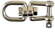 10mm A2 Stainless Steel Eye to Jaw Swivels (Pack Of 2)