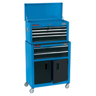 "Draper Blue 24"" Combined Roller Cabinet & Tool Chest (6 Draw)"