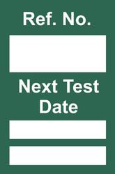 Next Test Mini Tag Insert - Green (Pack of 20)