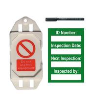 Harness Mini Tag Insert Kit - Green (20 AssetTag holders, 40 inserts, 1 pen)
