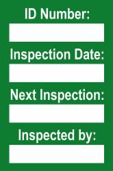 Harness Mini Tag Insert - Green (Pack of 20)