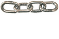 Stainless Steel Straight Link Side Welded Chain - Grade A4 (Per Metre)