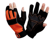 Bahco Carpenter's Fingerless Gloves