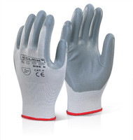 Nitrile Foam Poly Gloves (Large)