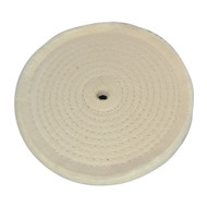 Spiral-Stitched Cotton Buffing Wheel 150mm