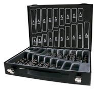 Terrax 170pc HSS-G Metal Drill Bit Set In Metal Case
