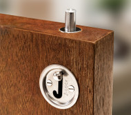 J Lock Mortised Door Bolt - Satin Stainless Steel
