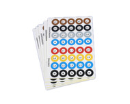 Self Adhesive Phase Label Stickers 25mm Diameter (5 Sheets of 40 Stickers)