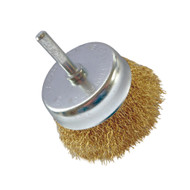 6mm Spindle Mounted 75mm Wire Crimped Cup Brush