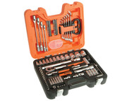 Bahco S910 Socket & Spanner Set of 92 Metric & AF 1/4 & 1/2in Drive