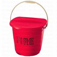 2 Gallon 'D' Type Fire Bucket & Lid