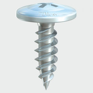 4.2 x 13mm Wafer Head Sharp Point Screw - Zinc (Per Box 1000)