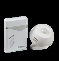 White Wireless PIR Door Chime (100m Range)