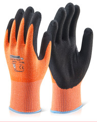 Kutstop Micro Foam Nitrile Amber Cut 3 Gloves (Large)