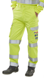 Arc Compliant Yellow Cotton Trousers