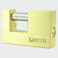 Veto Rectangle Brass Padlock 75mm