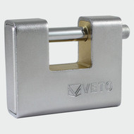 Veto Armoured Brass Padlock 90mm