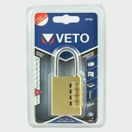 Veto Brass Combi Padlock 38mm