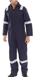 Click Navy Fire Retardent Nordic Design Boiler Suit