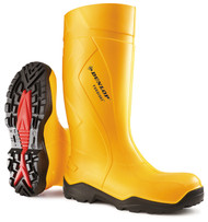 Dunlop Purofort+ Full Safety Work Boot/Wellington Yellow
