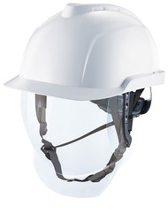 MSA V-Gard 950 Electrician White Helmet & Face Shield
