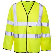 Standard Long Sleeved Hi-Vis Jerkin/Vest - Yellow