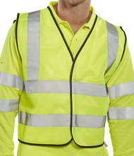 B-Seen Yellow Short Hi-Vis Vest