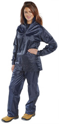 B-Dri Nylon Navy Waterproof Rain Suits