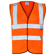 Orange Hi-Vis Large Vests (Pack Of 10)