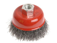 Faithfull Wire Cup Brush 125mm x M14 x 2 0.30mm