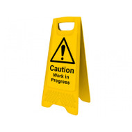 Heavy Duty A-Board - 'Caution Work in Progress'