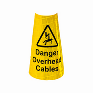 JSP Yellow Sleeve For 1 Metre Cones - 'Overhead Cables' (Pack Of 50)