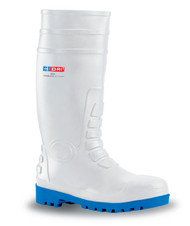 B-Brand White Safety Wellingtons