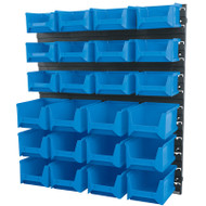 Draper 24 Bin Wall Storage Unit (Small/Medium Tubs)