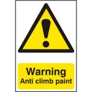Warning Anti Climb Paint - PVC (200 x 300mm)