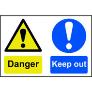 'Danger Keep Out' Sign PVC (600 x 400mm)