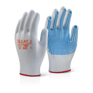 B-Brand Tronix Blue Dot Grip Gloves - Large