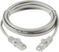 1 Metre UTP CAT5e Networking Cable - Grey