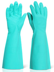 "B-Brand Nitrile Green 18"" Long Gloves - Large"